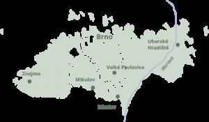 Vignoble de Moravie Source : Vína z Moravy Vína z Čech
